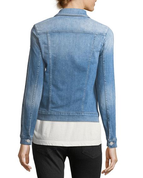 Star Bruiser Button-Front Faded Denim Jacket