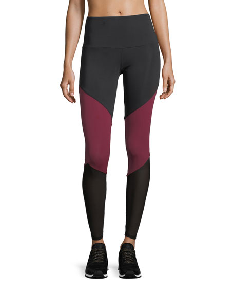 High-Rise Track Full-Length Performance Leggings