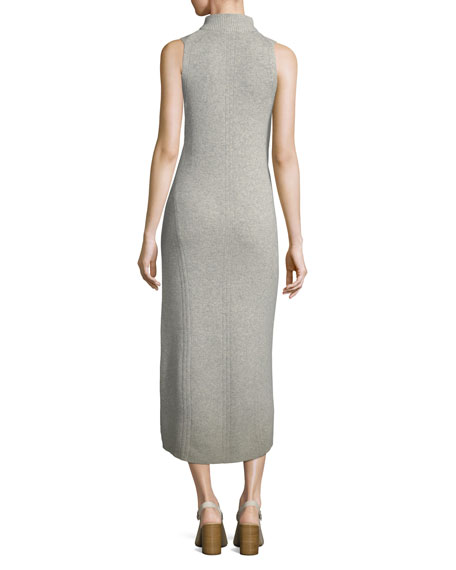 Ace Turtleneck Sleeveless Cashmere Dress