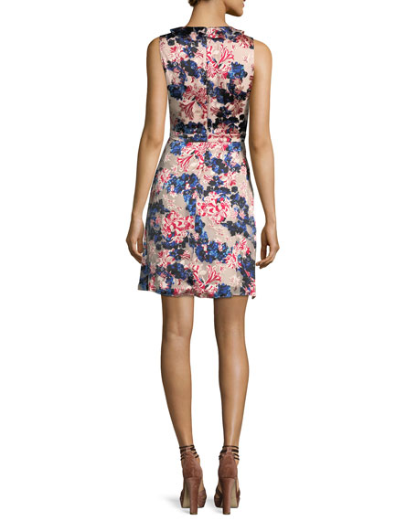 Lara Floral-Print Sleeveless Dress