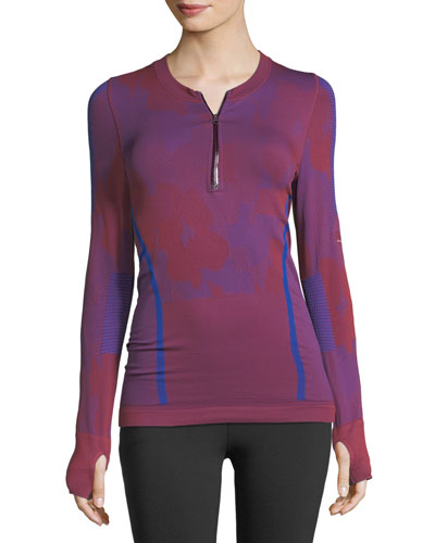 Seamless Long-Sleeve Performance Running Top