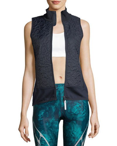 Zip-Front Quilted Vest