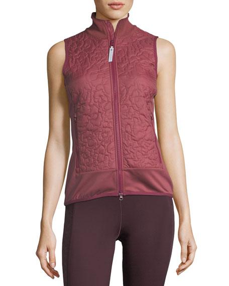 Quilted Zip-Front Running Vest