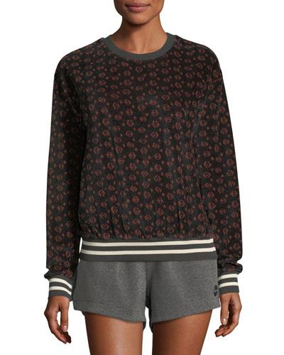 Magical Eye Velour Crewneck Sweatshirt