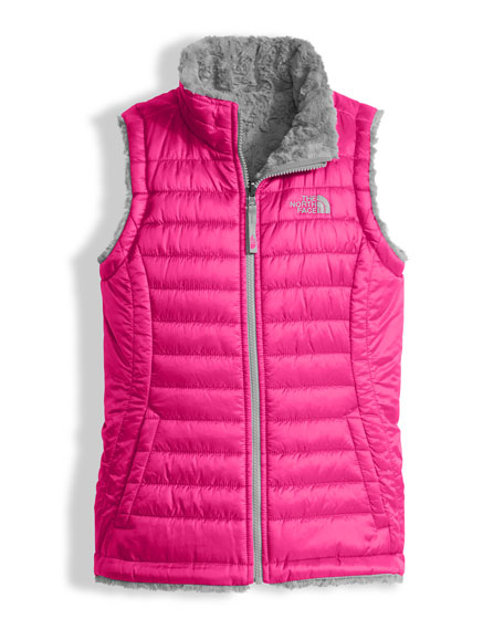 Girls' Reversible Mossbud Swirl Vest, Pink, Size XXS-XL
