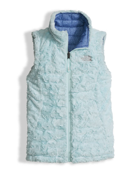 5ba274ad23f The North Face Girls  Reversible Mossbud Swirl Vest