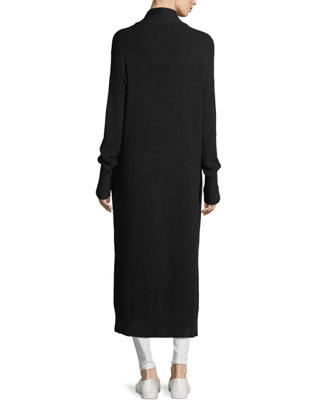 Julian Open-Front Ribbed Duster Sweater