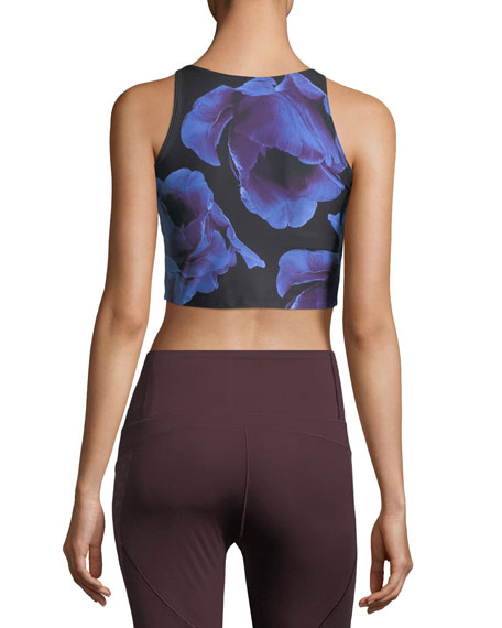 High-Neck Athletic Crop Top