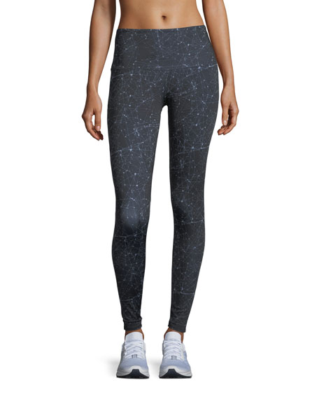 High-Rise Night Sky Full-Length Performance Leggings