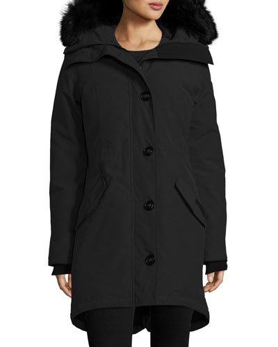 Rossclair Tech Parka Jacket w/ Fur