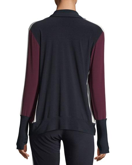 Side-Stripe Zip-Front Turtle Jacket