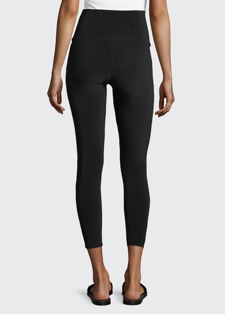 Cropped High-Waist Leggings