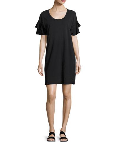 The Ruffle Roadie T-Shirt Dress