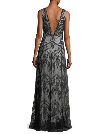 Doreen Hook-&-Eye Lace Evening Gown