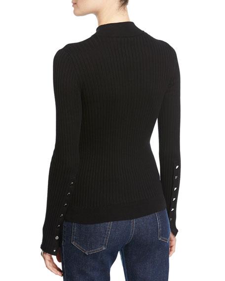 Ribbed Long-Sleeve Sweater