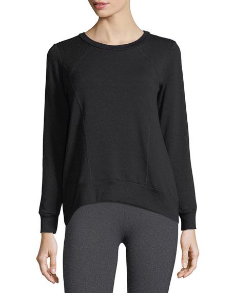 Cozy Everyday High-Low Fleece Pullover Sweatshirt