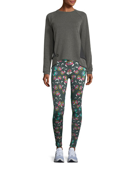 Wunderland Drawstring Printed Performance Leggings