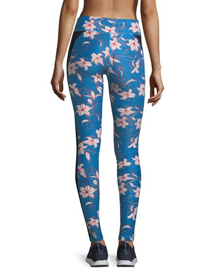 Fairy Tale Floral-Print Performance Yoga Pants