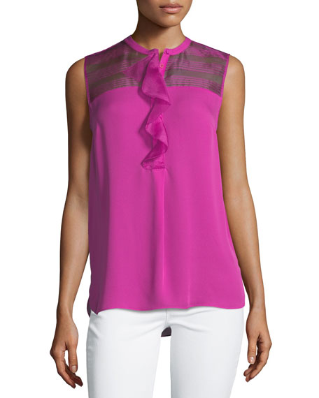 Kia Sleeveless Silk Blouse