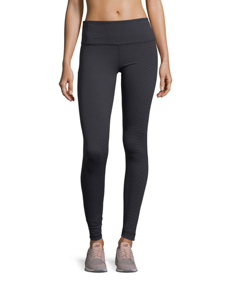 High-Rise Jacquard Full-Length Performance Leggings