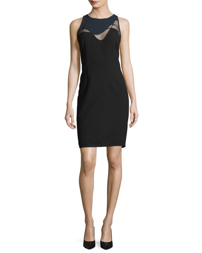 Colby Mesh-Inset Sheath Dress