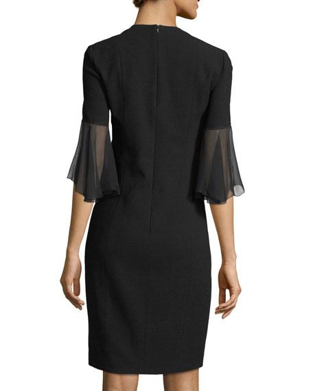 Jeffra Half-Sleeve Shift Dress