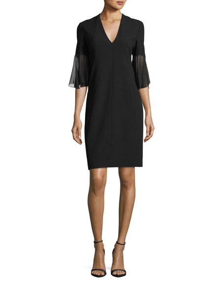 Jeffra Half-Sleeve Shift Dress