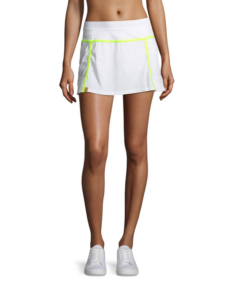 Player Pleated Performance Mini Skirt with Built-in Shorts