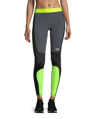 Sprinted Colorblocked Performance Leggings