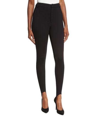 Ponte High-Waist Skinny Stirrup Pants