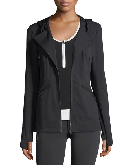 Vibe Zip-Front Hooded Performance Jacket