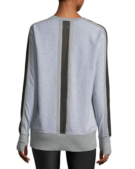 Social Heathered Sweatshirt w/ Mesh