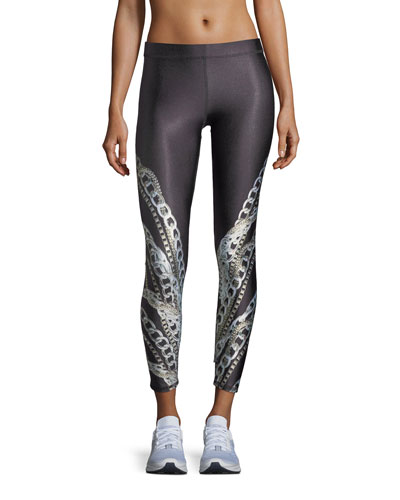 Falling Chains Ankle Performance Leggings