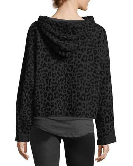 Marvin Hooded Leopard-Print Sweatshirt