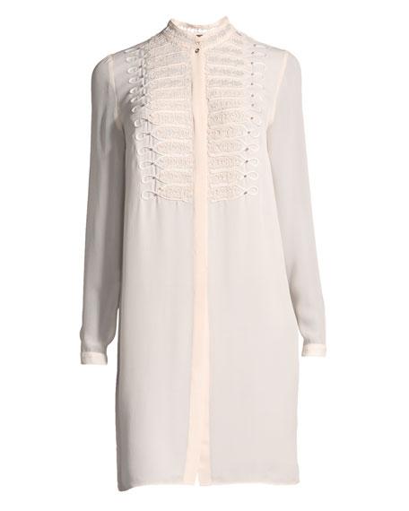 Divitra Lace-Bib Silk Tunic