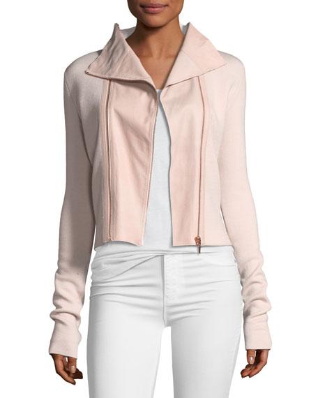 Amanka Zip-Front Merino Sweater