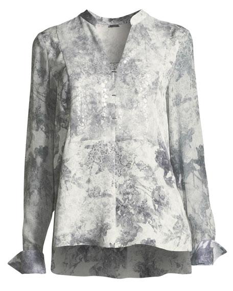 Nori Silk Printed Blouse