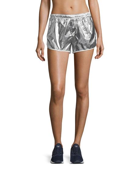 Metallic Pull-On Performance Shorts
