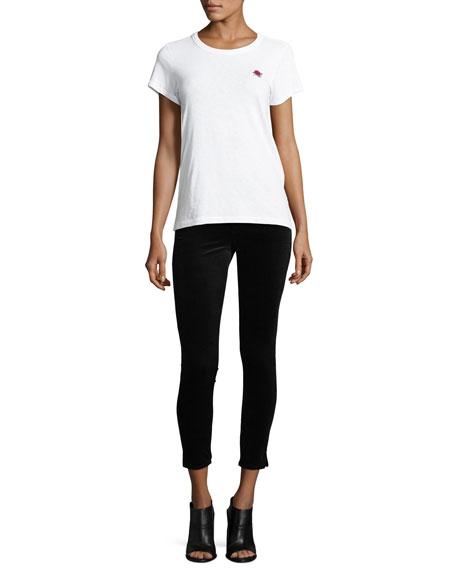High-Rise Skinny-Leg Velvet Pants