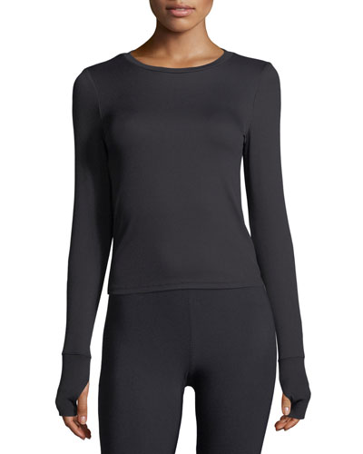 Crewneck Long-Sleeve Performance Top