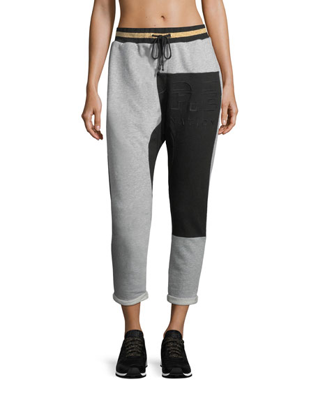 Split Lane Dropped Track Jogger Pants