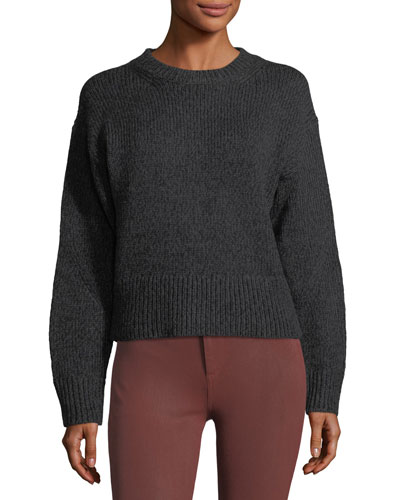 Sheila Crewneck Wool-Blend Pullover Sweater