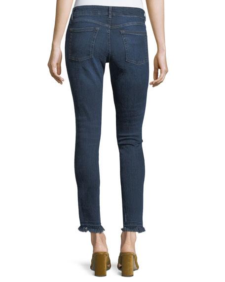 Margaux Harlow Instasculpt Ankle Skinny Jeans w/ Frayed Hem