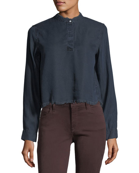 W 3rd & Sullivan Long-Sleeve Crop Shirt