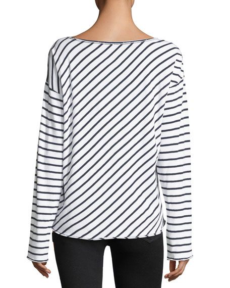 Dakota Striped Long-Sleeve Top