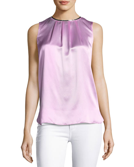 Betsy Sleeveless Silk Blouse