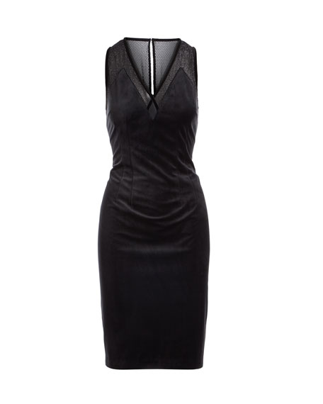 Mikaya Sleeveless Velvet Dress