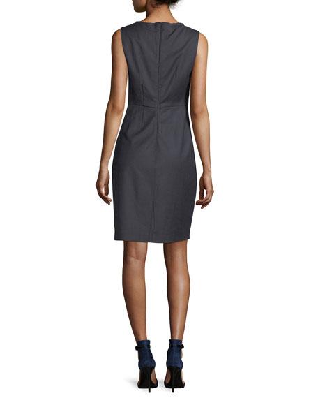 Rosario Sleeveless Stretch-Wool Dress