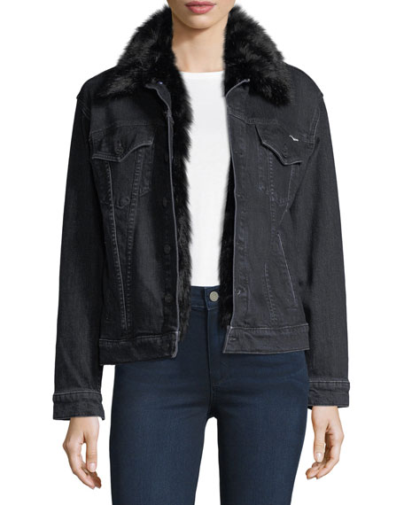 Furry Drifter Denim Jacket w/ Faux Fur