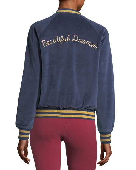 Beautiful Dreamer Velour Bomber Jacket